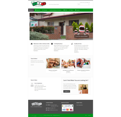 Dinos Denture Clinic Website Design