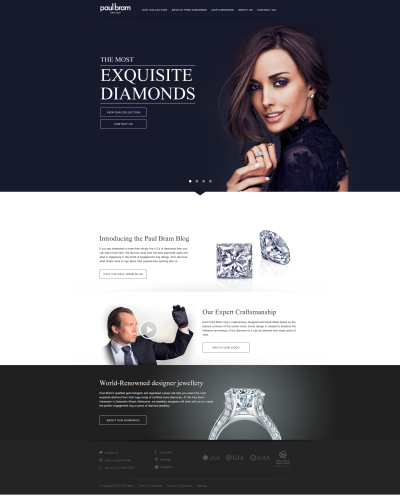 PaulBram Jewelry Website Design