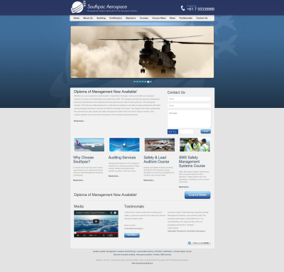 South Pacific Aerospace Website Design